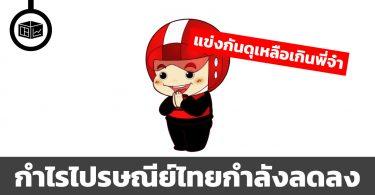 ไปรษณีย์ไทย กำไรกำลังลดลง