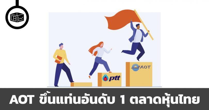 AOT ขึ้นแท่นอันดับ 1 ตลาดหุ้นไทย