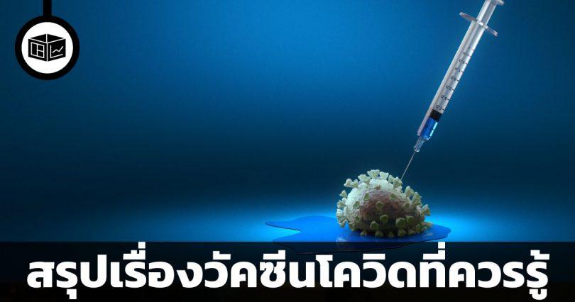 สรุปเรื่องวัคซีนโควิดที่ควรรู้