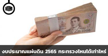 งบประมาณแผ่นดิน 2565 หากรัฐถือเงินร้อยบาท กระทรวงไหนได้ไปเท่าไหร่